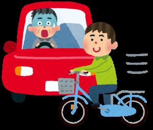 自転車対車の事故